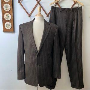 Lauren Ralph Lauren Pinstriped Wool Suit